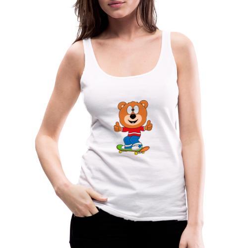Teddy - Bär - Skateboard - Sport - Kind - Baby - Frauen Premium Tank Top