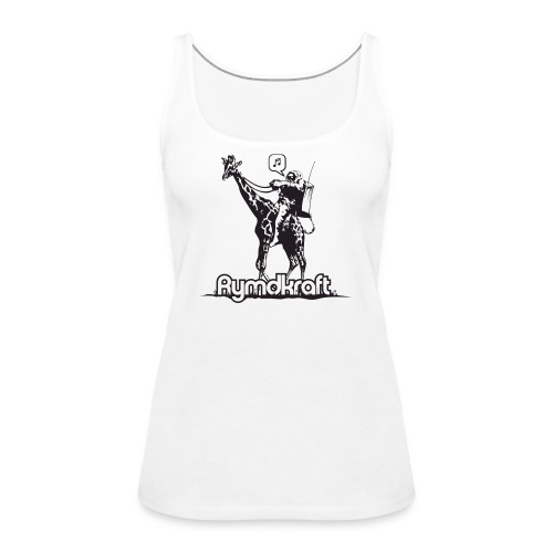Rymdkraft Basic Happy Astronaut Tee - Women's Premium Tank Top
