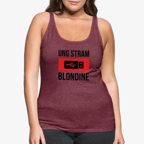 Ung Stram Blondine - Sort - Dame Premium tanktop