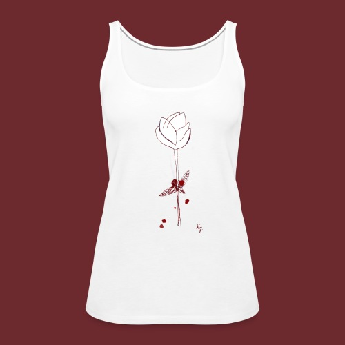 Flower in blood, by Kristijan Grkic - Frauen Premium Tank Top