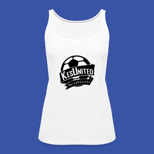Zwart/Wit KesUnited - Vrouwen Premium tank top