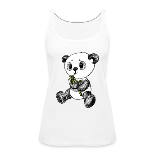 Panda bear colored scribblesirii - Women's Premium Tank Top