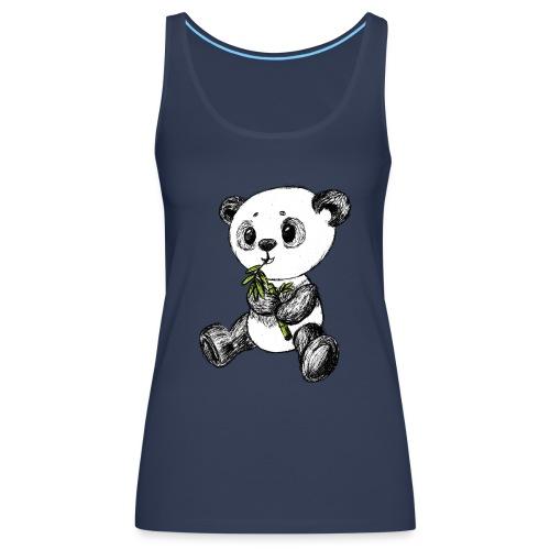 Panda bjørn farvet scribblesirii - Dame Premium tanktop