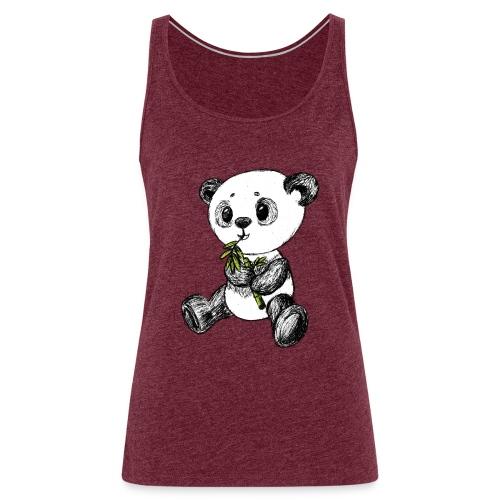 Panda Bär farbig scribblesirii - Frauen Premium Tank Top