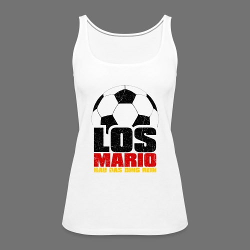 Piłka nożna - Idź Mario, hau w rzeczy ruchomych - Tank top damski Premium
