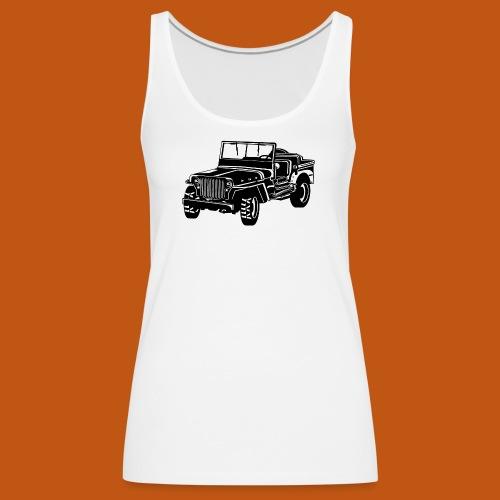 Geländewagen / Jeep SUV 02_schwarz weiß - Frauen Premium Tank Top