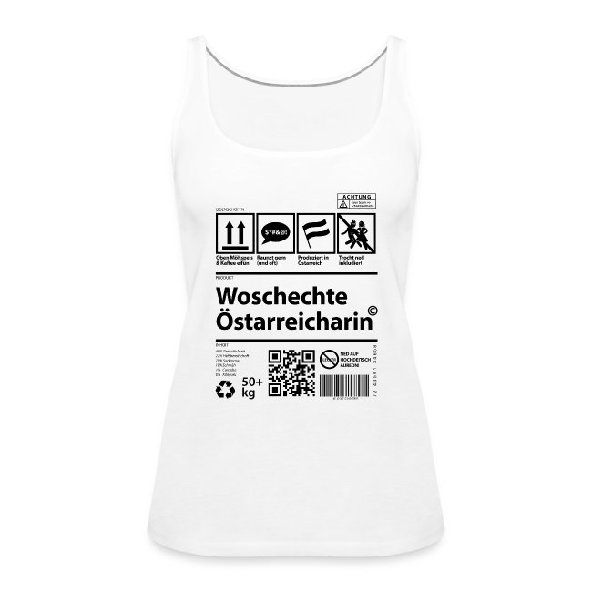 Vorschau: Woschechta Österreicha - Frauen Premium Tank Top