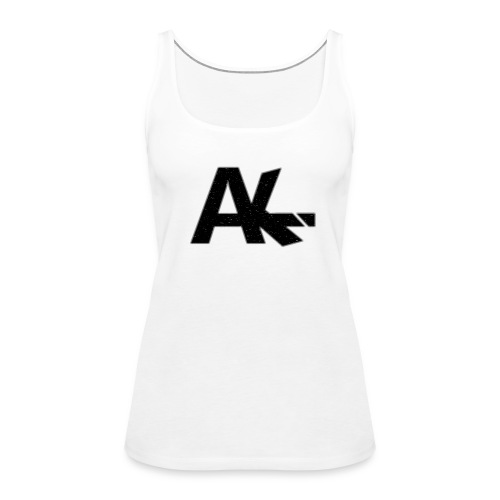 Logo de la team AIKE style trait blanc - Débardeur Premium Femme