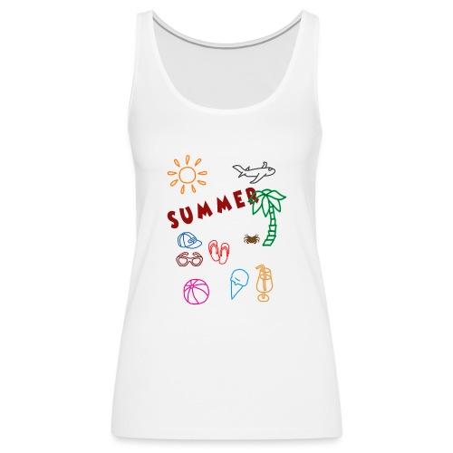 Summer - Naisten premium hihaton toppi