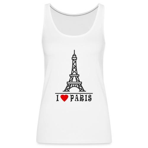 Paris - Naisten premium hihaton toppi