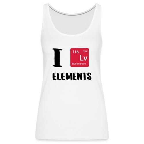 I love Elements - Frauen Premium Tank Top