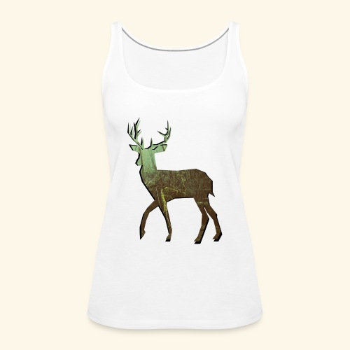 Forest - Deer silhouette - Frauen Premium Tank Top