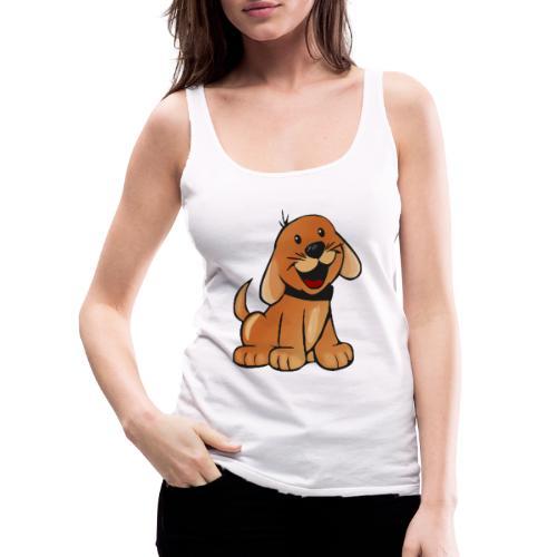 cartoon dog - Canotta premium da donna