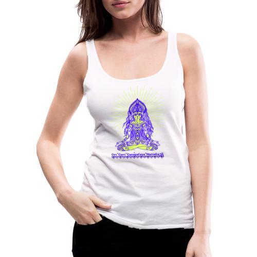 Yogafashion Hippie Ganesha dein Glücksgott - Frauen Premium Tank Top