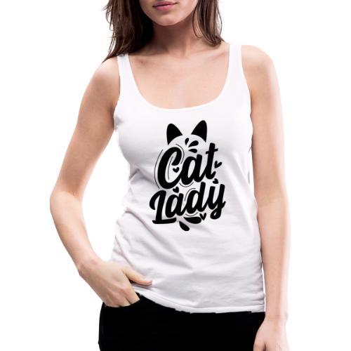 CAT LADY - Débardeur Premium Femme