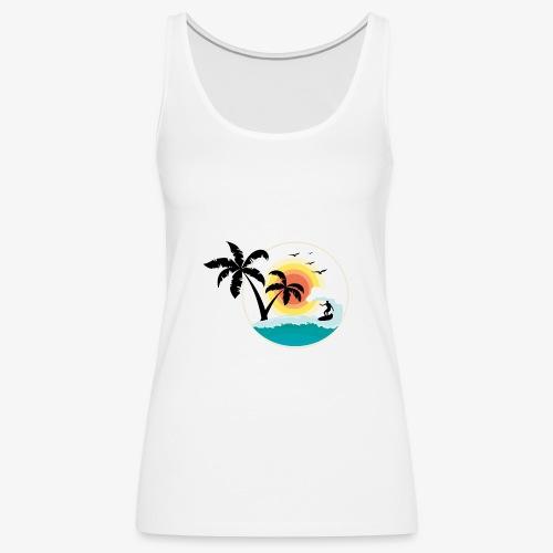 Surfing in paradise - Frauen Premium Tank Top