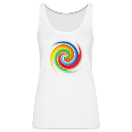 deisold rainbow Spiral - Frauen Premium Tank Top