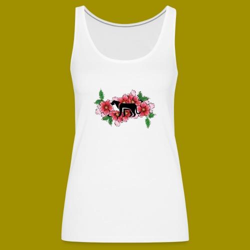 Sakura Leafs, Flowers and Black Tiger Avatar - Women's Premium Tank Top