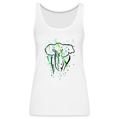 Afrikanischer Elefant I Kleckse - Frauen Premium Tank Top