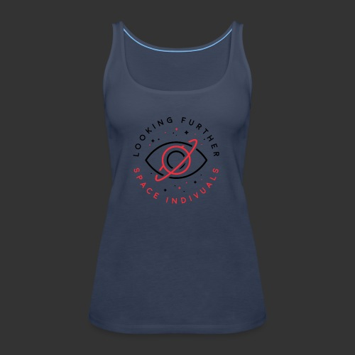 Space Individuals - Looking Further White - Women's Premium Tank Top