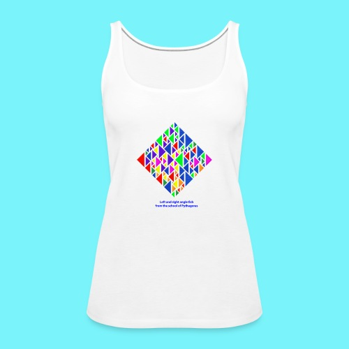 Left and right angle fish, school of Pythagoras - Women's Premium Tank Top