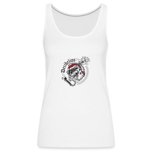 skull logo trans letras negras - Camiseta de tirantes premium mujer