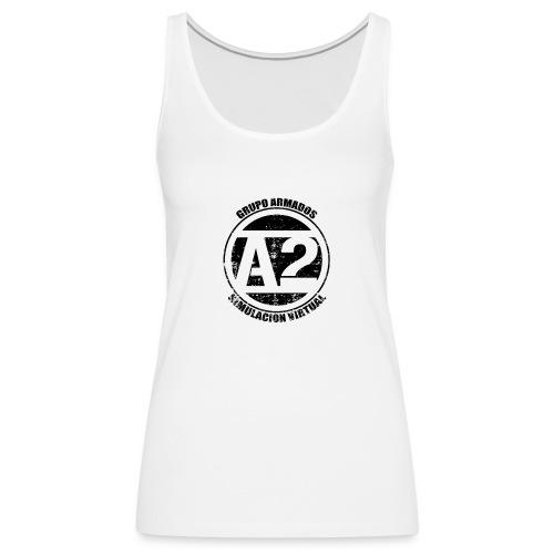 A2 Logo Envejecido - Camiseta de tirantes premium mujer