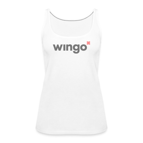 wingo logo 2 col (svg) - Women's Premium Tank Top