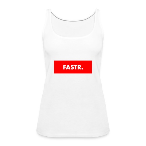 RED BOX TEXT - Vrouwen Premium tank top