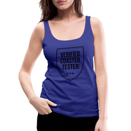 Badge de testeur de montagnes russes vérifié - Débardeur Premium Femme