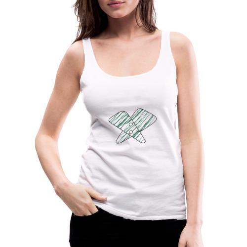 lettera X verde - Canotta premium da donna