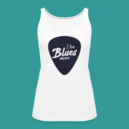 I Love Blues Music Guitar Pick - Women's Premium Tank Top