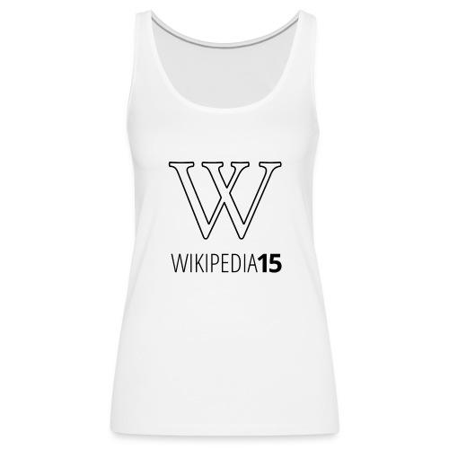 W, rak, vit - Premiumtanktopp dam
