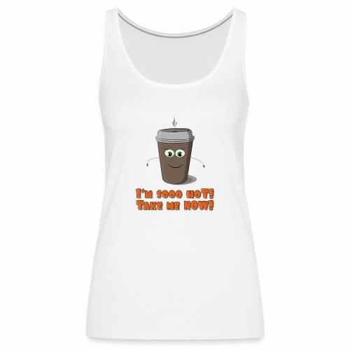 Coffee to go - Tank top damski Premium