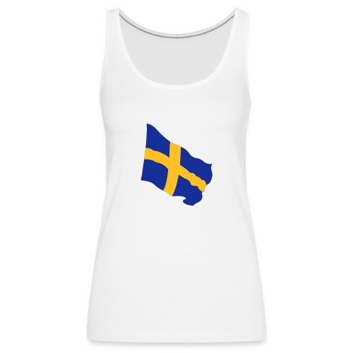 Flagge Schwedenflagge flatternd, Sweden Sverige - Frauen Premium Tank Top