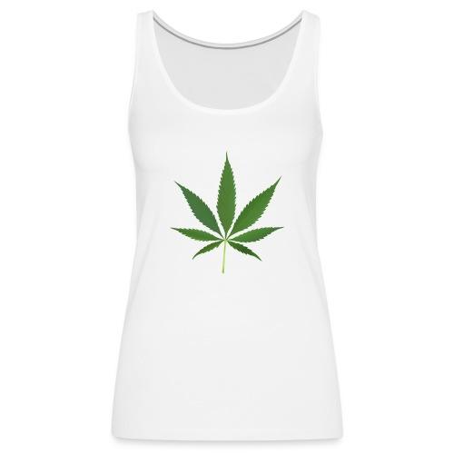 2000px-Cannabis_leaf_2 - Dame Premium tanktop