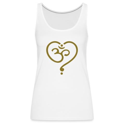 OM Symbol Herz Yoga Liebe Spiritualität Meditation - Frauen Premium Tank Top