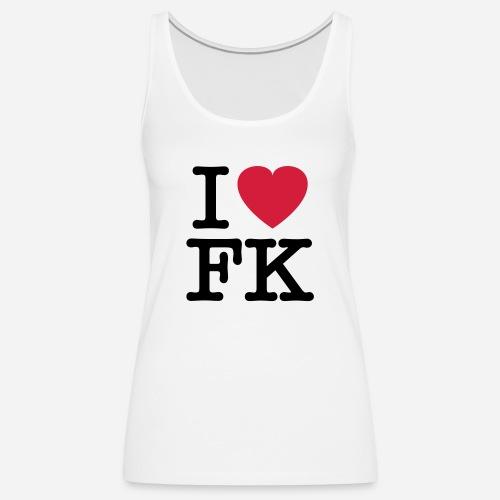 ilovefk logo - Frauen Premium Tank Top