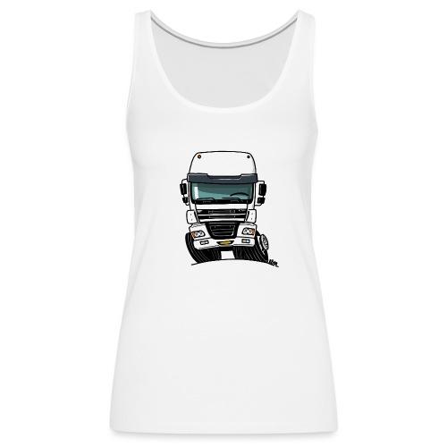 0810 D truck CF wit - Vrouwen Premium tank top