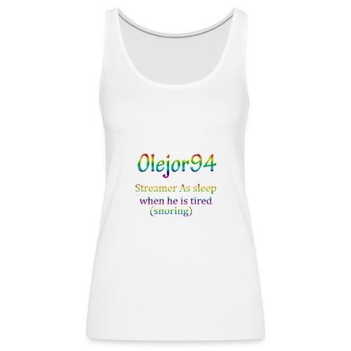 Olejor94 sover snorken English - Premium singlet for kvinner