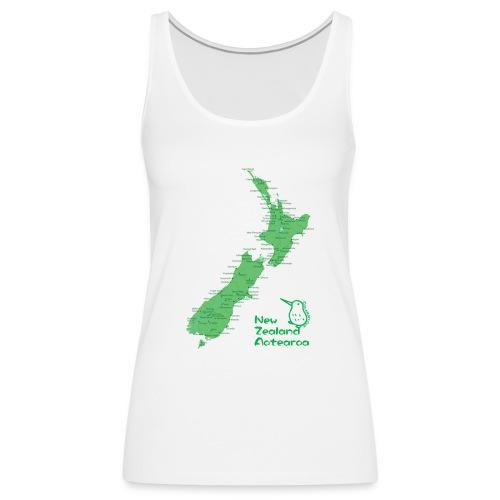 New Zealand's Map - Women's Premium Tank Top