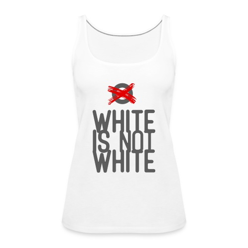 white not - Tank top damski Premium