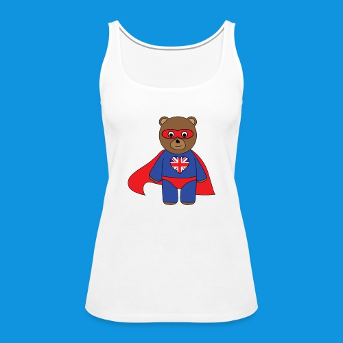 British Hero Bear tank - Women's Premium Tank Top
