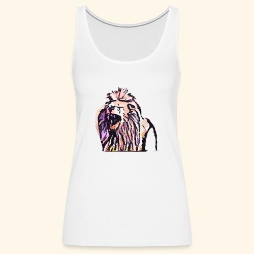 leon geometrico - Camiseta de tirantes premium mujer