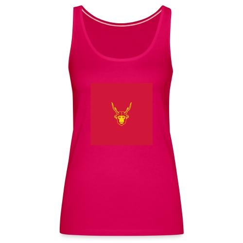 scimmiacervo sfondo rosso - Canotta premium da donna
