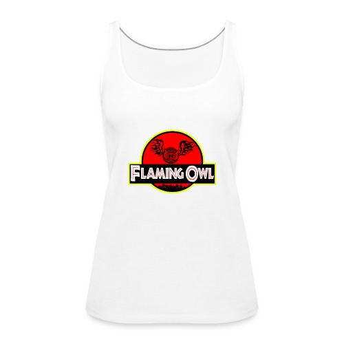Flaming Jurassic Owl - Premiumtanktopp dam