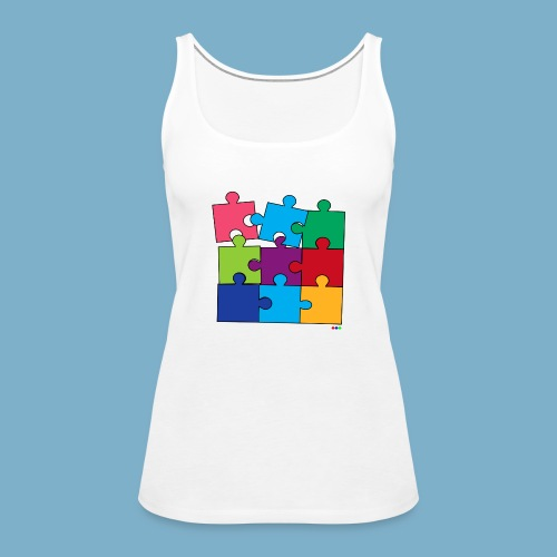 Puzzle Fun Motive - Frauen Premium Tank Top