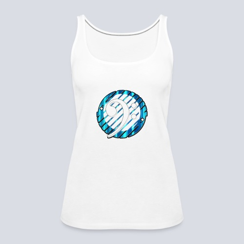 BassClef blue/white - Women's Premium Tank Top