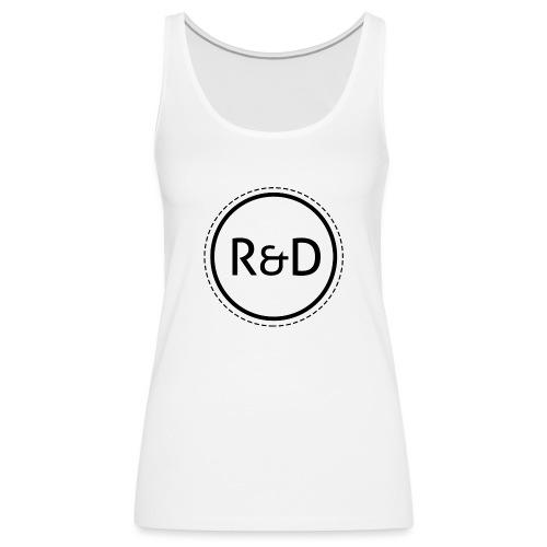 logo_zwart - Vrouwen Premium tank top