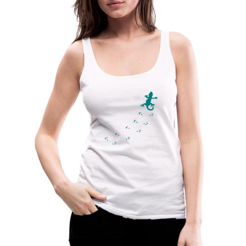 Messy Lizard Paws - Women's Premium Tank Top